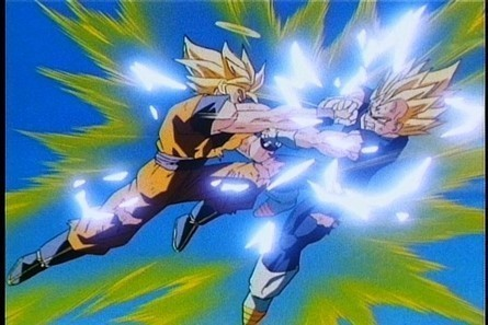 Dragon Ball Z Images Ssj2 Goku Vs Majin Vegeta Wallpaper And Background Photos