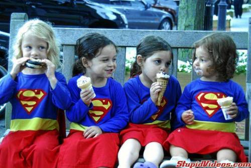 supergirl ice cream party