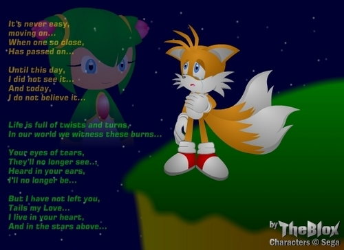 Tails and Cosmo wallpaper called taismo poem