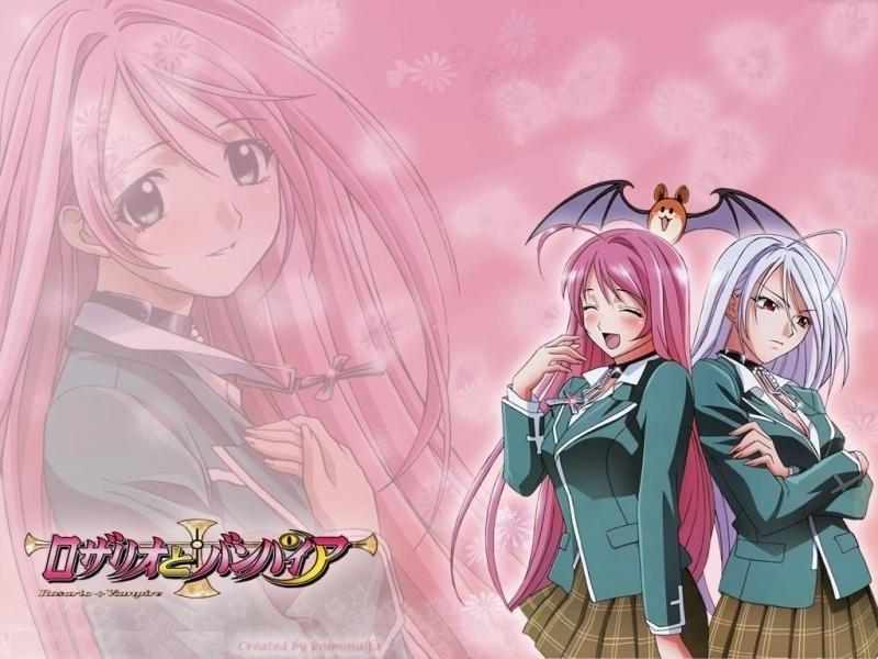 Akashiya Moka Club Images Vampire Rosario Moka Hd Wallpaper And