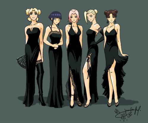 Pussy black dress girl anime
