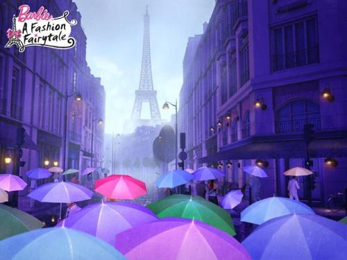 Barbie A Fashion fairytale- Rain in Paris