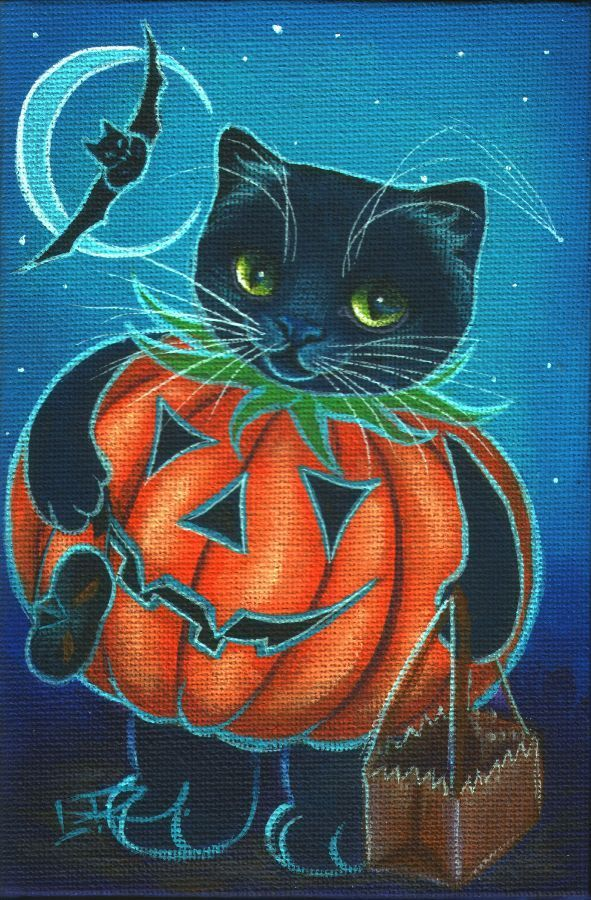 Black cat pompoen ^.^