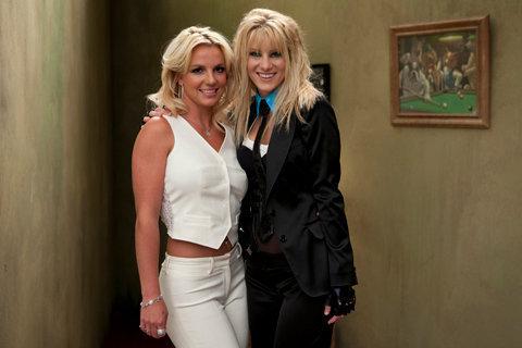 "Britney on ""Glee"" set"