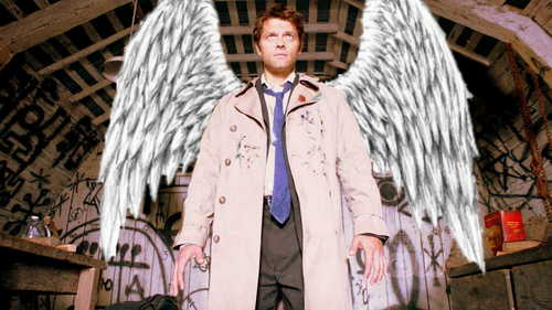 Castiel wallpaper entitled Castiel's wings