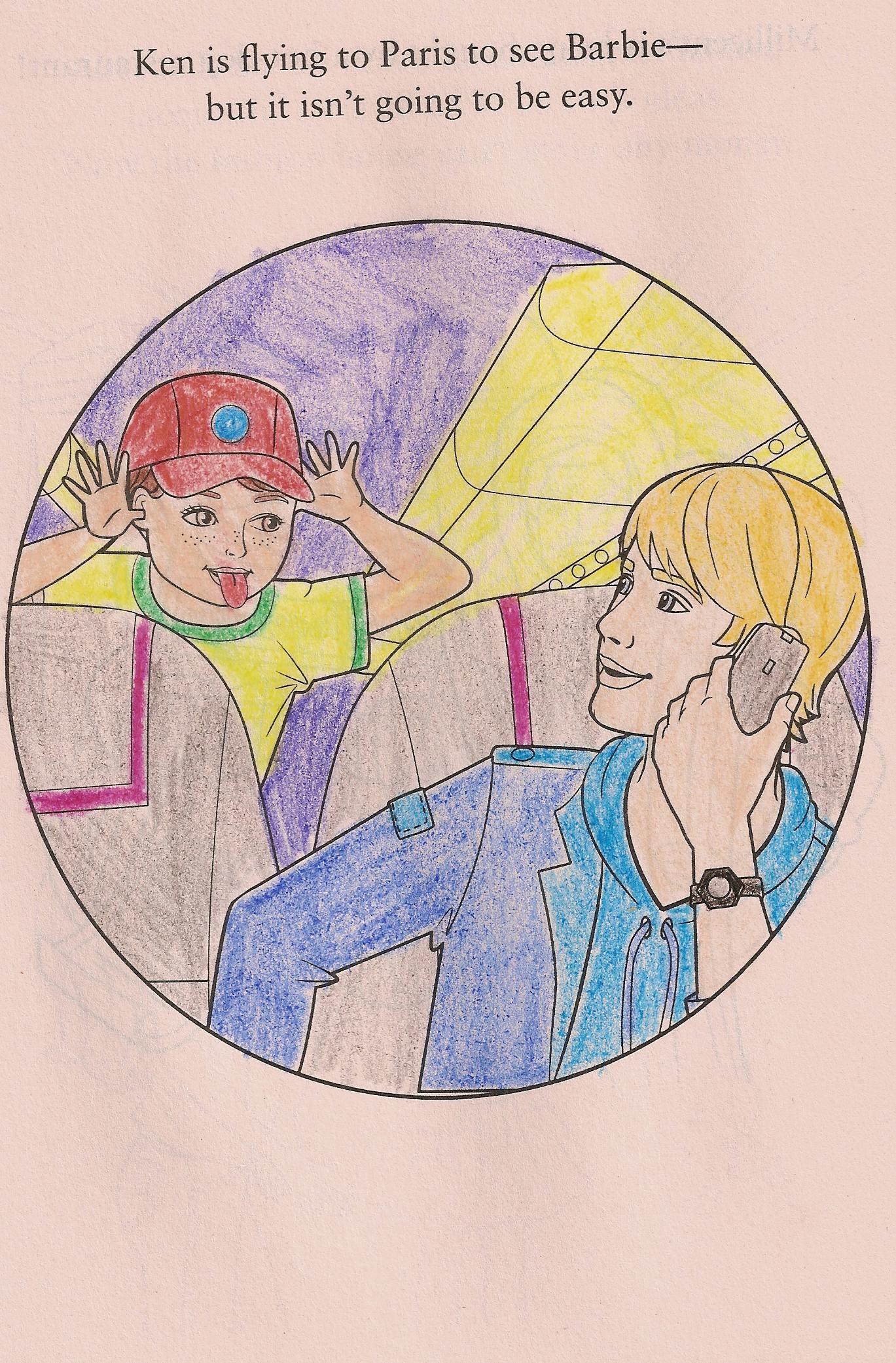 Coloring page barbie a fashion fairytale fan art 15063600 fanpop