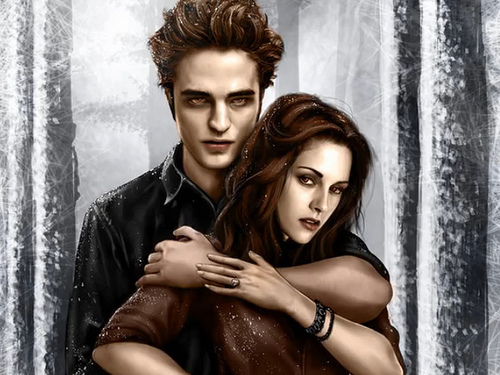 serye ng takip-silim wolpeyper entitled Edward and Bella
