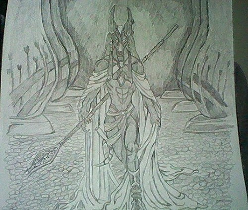 Egyptian God Anubis *hand drawn*