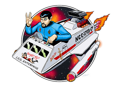 Evil Spock & his Pon Farr Flyer