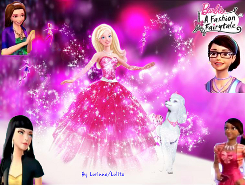 First fanart by me- Barbie and her friends in Fashion fairytale