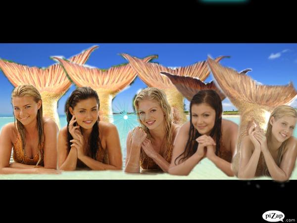 H2O Just Add Water Five! mermaids!