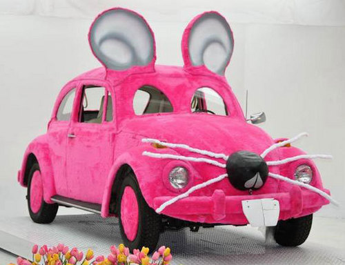 Get in the bunny car!