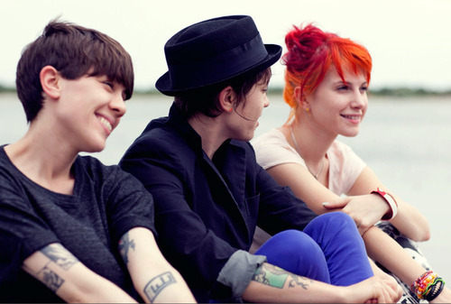 Hayley with Tegan and Sara