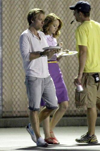 Jayma on set {24the August 2010}