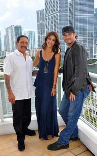 Jessica Promoting Machete in Miami