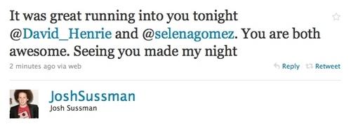 Josh Sussman's Tweet