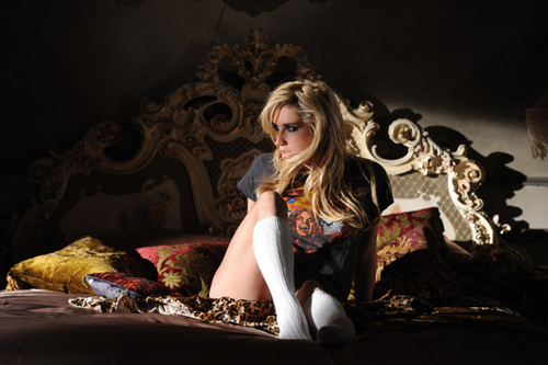 Ke$ha at the 2010 VMA promo shoot.