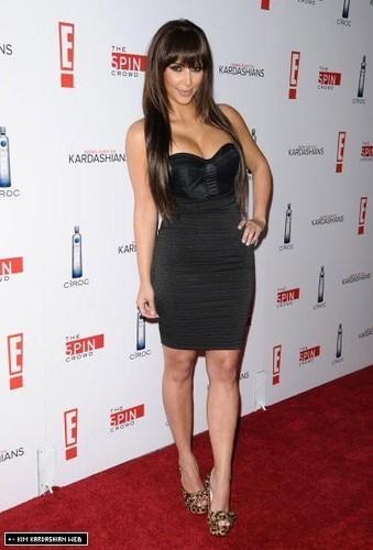 Kim Kardashian wallpaper titled Kim @ 'Keeping up with the Kardashians' Season 5 Premiere Party
