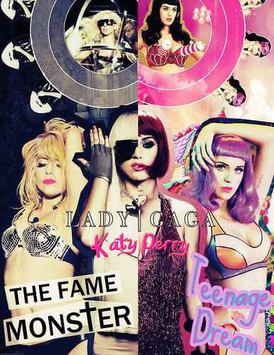Lady GaGa vs Katy Perry - katy-perry Fan Art