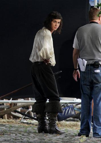 Logan on set of Three Musketeers