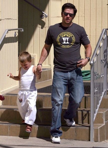 Mark Wahlberg and son Michael