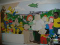 Mural of the simpsons, Family guy, Cleveland tampil & futurama