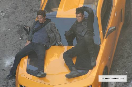 shia labeouf transformers 3. On Set Transformers 3