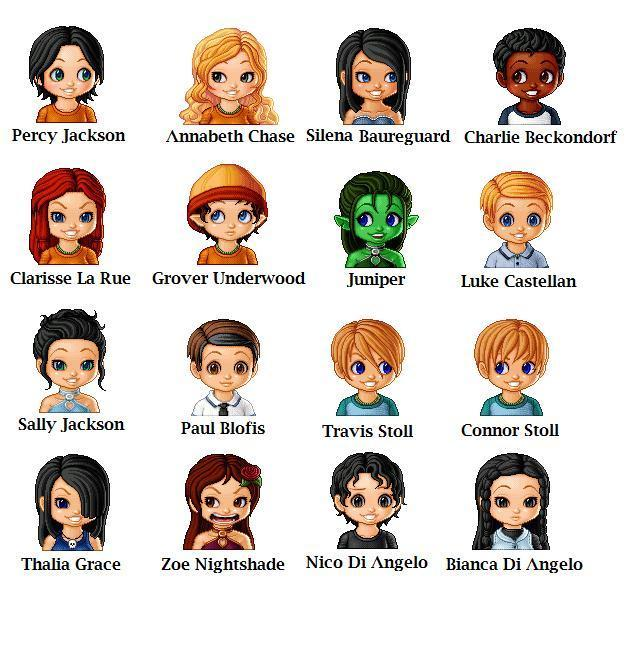 Percy Jackson Chibi Icons and Screencap - Percy Jackson Characters