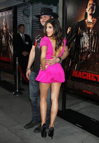 Robert Rodriguez & Electra Avellan @ LA Machete Premiere - 25 AUG