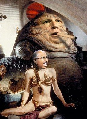 Rush Limbaugh as Jabba the Hutt