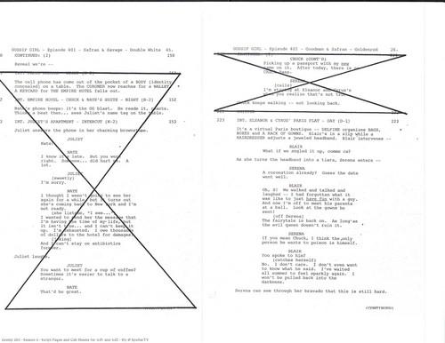 SPOILER! Gossip Girl - 4x01 / 4x02 = SCRIPT.