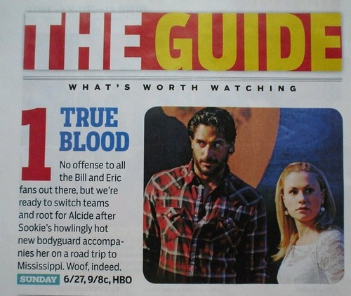 Sookie and Alcide wallpaper entitled TV Guide Article