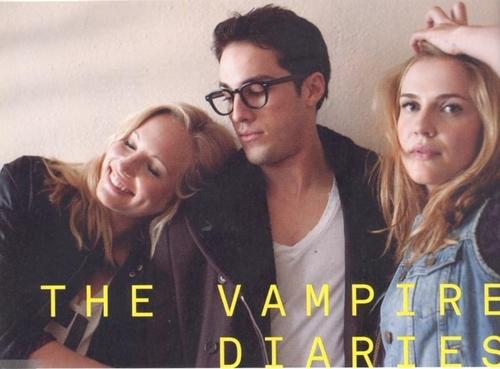 TVD Cast - Candice, Michael, Sara