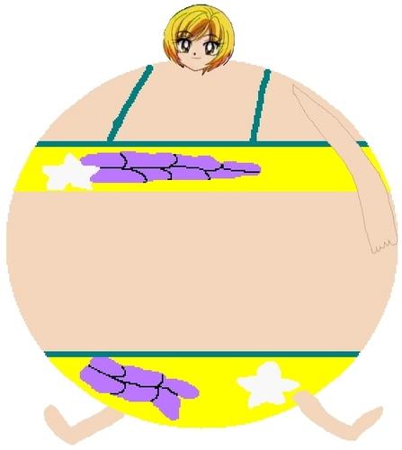 Yamazaki Miyu wearing bikini