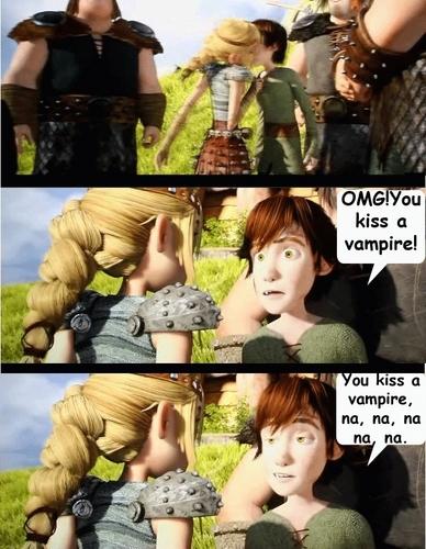 You kiss a vampire!