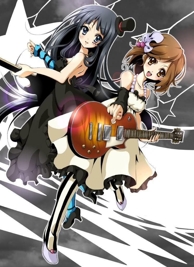 Yui and Mio Don    K On Yui Lazy