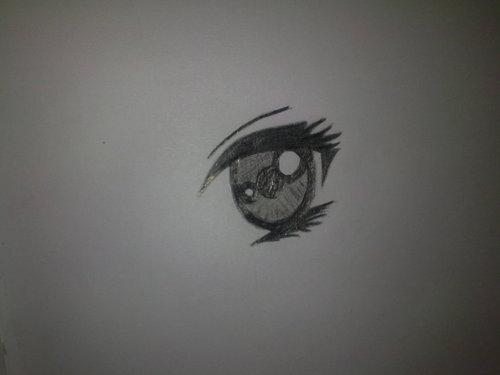 my drawing of a manga eye!