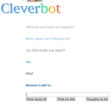 omg cleverbot is not a huddyfan!