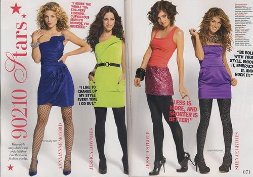 The CW kertas dinding possibly with a hip boot, a koktel dress, and tights called 90210