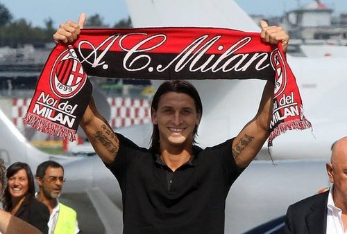 Zlatan Ibrahimovic wallpaper called AC MILAN -- IBRAHIMOVIC