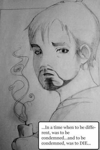 Robert Downey Jr. achtergrond possibly with anime titled ANIME-FATHER O'MALLEY/SATAN'S ALLEY/TROPIC THUNDER/R.D.J.