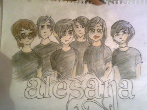 Alesana Guys drawing