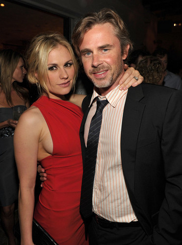 Anna Paquin and Sam Trammell at the 2010 Entertainment Weekly and Women In Film Pre-Emmy party
