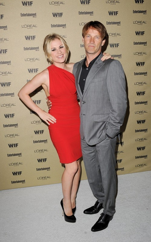 Anna Paquin and Stephen Moyer at the EW and Women In Film pre-EMMY party (August 27)