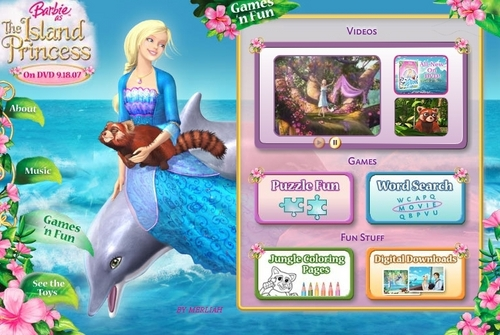 Barbie as the island princess wallpaper titled Barbie as the island princess