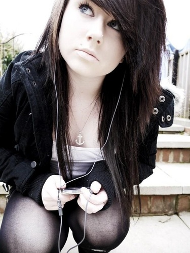 emo girls wallpaper probably with a playsuit, an outerwear, and a portrait titled Becca Louise