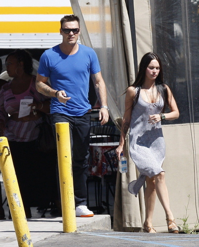 Brian and Megan out in Los Angeles
