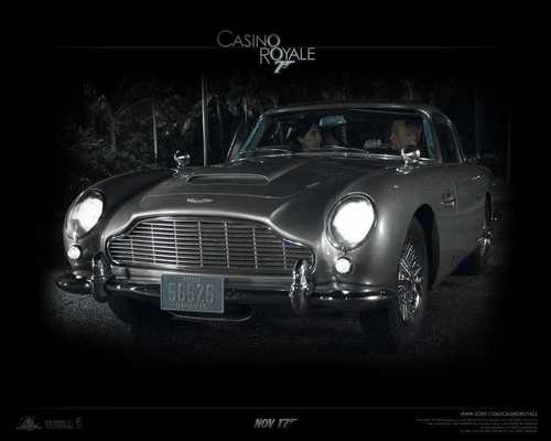 Action Films fondo de pantalla possibly containing a convertible, a roadster, and a coupe, cupé entitled Casino Royale