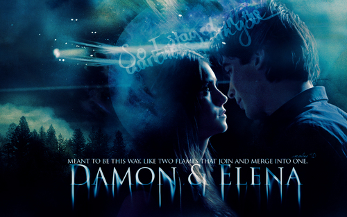 The Vampire Diaries wallpaper titled Delena; two flames.