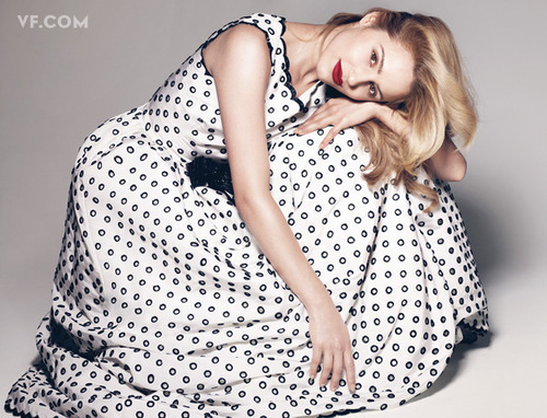 Dianna Agron wallpaper probably with a nightwear and a nightgown called Dianna Agron Vanity Fair Shoot